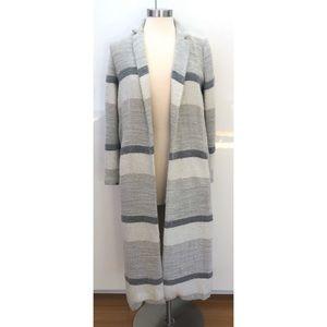 Zara long gray pocket duster jacket coat size S